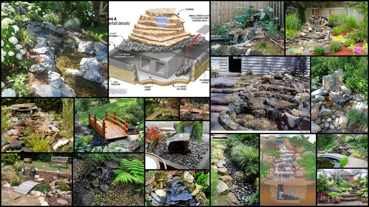 Backyard Waterfalls Diy : DIY backyard waterfalls with bridges  Pondless Waterfalls  Pinterest
