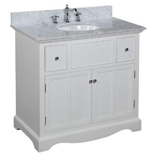 Emily 36 Inch Bathroom Vanity Carrera White Bathrooms Pinterest
