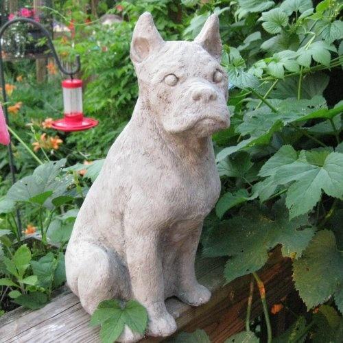 Cement Backyard Dog : Concrete large Boxer Dog Garden statue memorial  springhillstudio