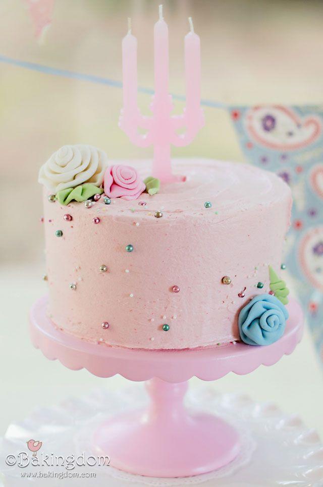 Ribbon Rose Birthday Cake by ©Bakingdom  50 th birthday ideas  Pint ...