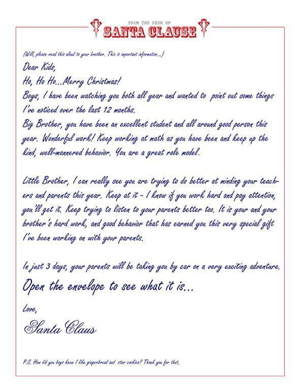 Printable Letterhead From Santa Claus | Homealterdecor.top