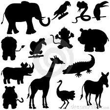 silhouetten dieren