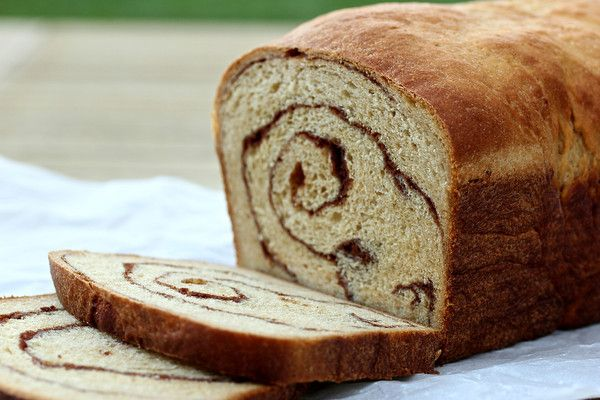 100% Whole Wheat Cinnamon Swirl Bread | Love to Cook | Pinterest