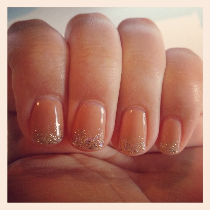 Nails - Shellac Glitter Ombre | Nail Candy | Pinterest