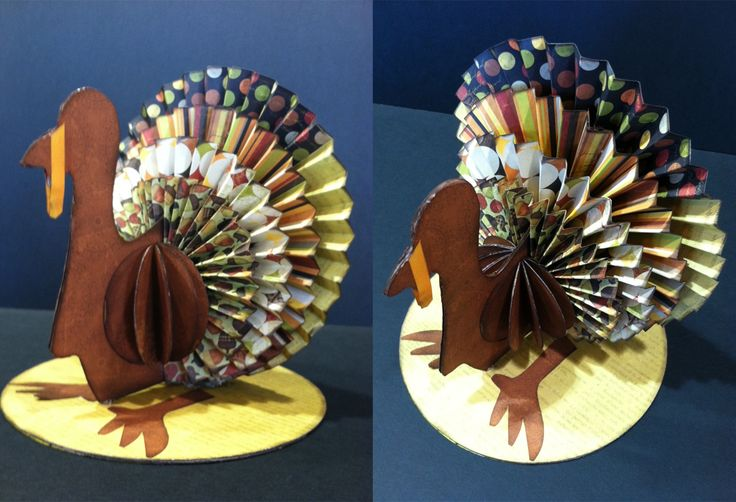 Rosette Turkey - another great way to use the Martha Stewart Scoring Board!
