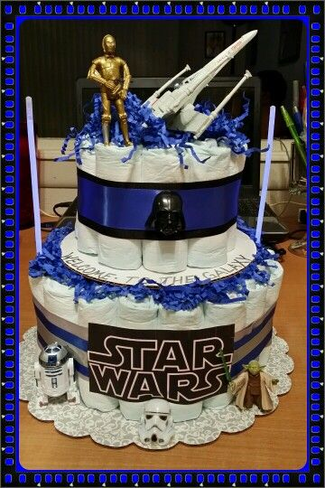 star wars diaper cake baby shower ideas pinterest