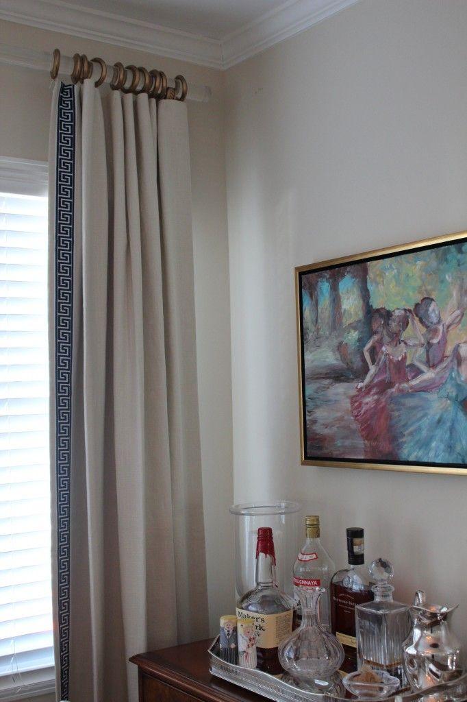 Lucite drapery rods | Living Room | Pinterest