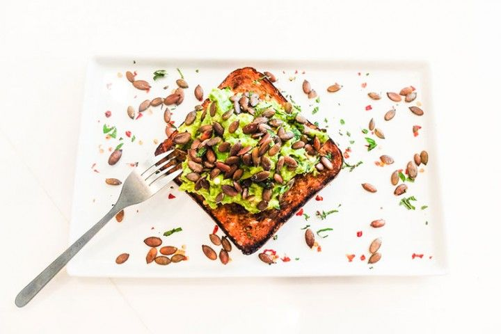 avocado toast with pepitas and feta | yummy: breads, breakfast | Pint ...