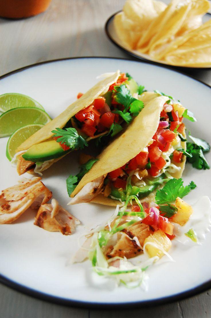Grilled Mahi Mahi Tacos #mexican #tacos