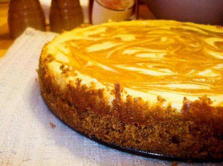 Easy Homemade Marbled Pumpkin Cheesecake | recipes | Pinterest