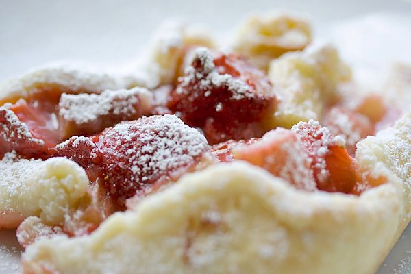 Rustic Strawberry Rhubarb Tart ~ from Seasons & Suppers
