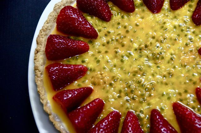 Posset Fruit Tart With Passion Fruit & Strawberries | Pies, Tarts ...