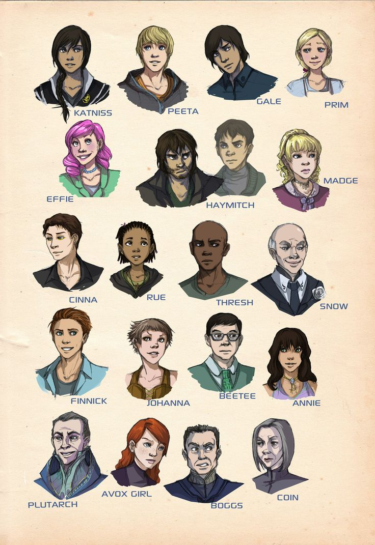 Hunger Games characters #hunger #games #drawing #characters #genius