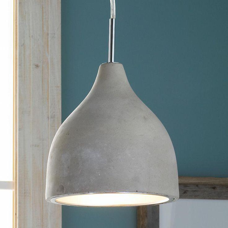 mini concrete pod pendant light