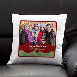 LOVE LOVE LOVE this Christmas Throw Pillow! You can personalize it with any picture and and message you want - such a great Christmas gift idea too! This site has EVERYTHING you need for Christmas!