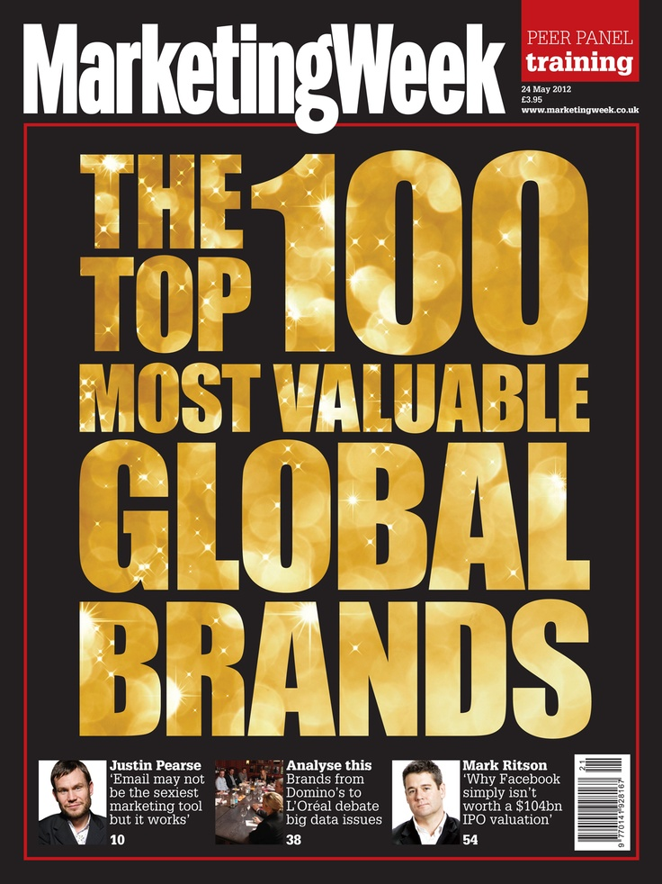 This week we explore Millward Brown's BrandZ top 100 most valuable brands report. Who do you think comes out top?    http://www.marketingweek.co.uk/trends/the-top-100-most-valuable-global-brands/4001824.article?cmpid=1232