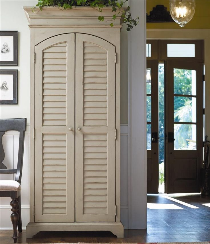 Utility Cabinet With Louvered Doors Dream Home Pinterest