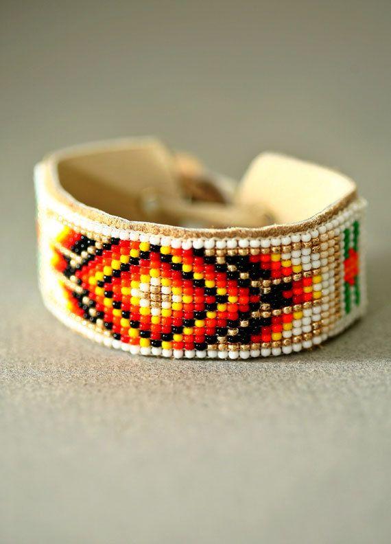 how to make native american beaded bracelets