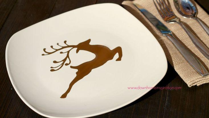 DIY $1 Christmas Plates - Down Home Inspiration