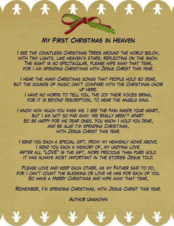 Merry CHRISTmas from Loved Ones in Heaven ...miss you so much this first Christmas Grandpa n Grandma♥ Holiday, Funny Say...