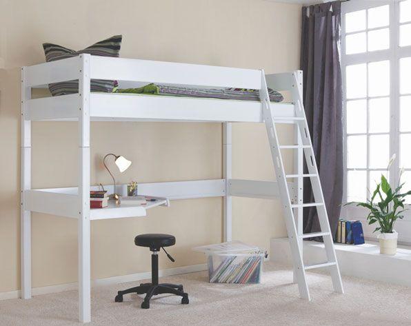 Cama alta com escritorio recamaras ni os pinterest for Cama escritorio
