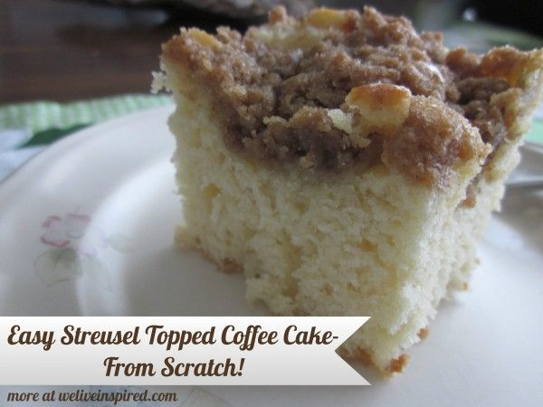 Easy homemade coffee cake recipes-Streusel topped Coffee Cake by ...