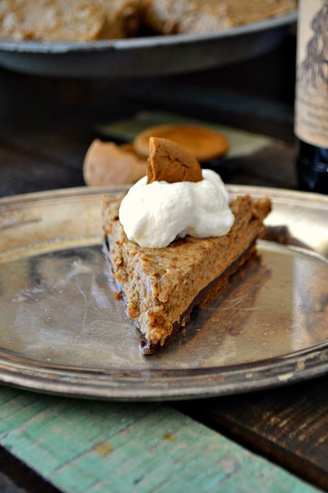 Gingersnap Stout Pie with Chocolate Stout Ganache