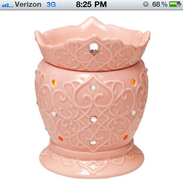 just adore this new tiara warmer from Scentsy's new spring line ...