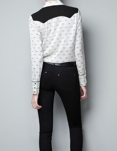 Zara Horse Print Blouse 49