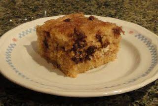 Chocolate Chip Snack Cake | Dessert Addiction | Pinterest