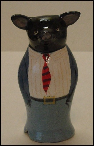 **BLACK PIG IN A SUIT** PIE FUNNEL by STUART BASS, ENGLAND