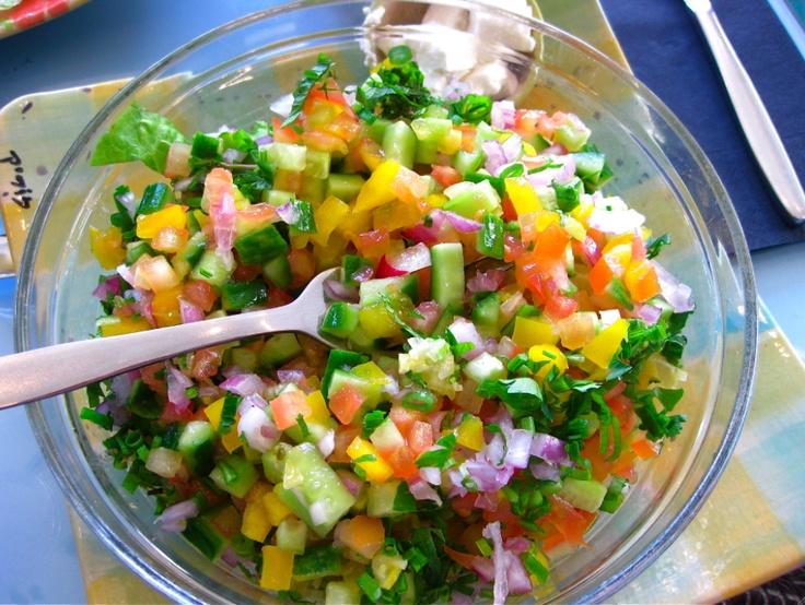 Israeli salad | Bites of Happiness | Pinterest