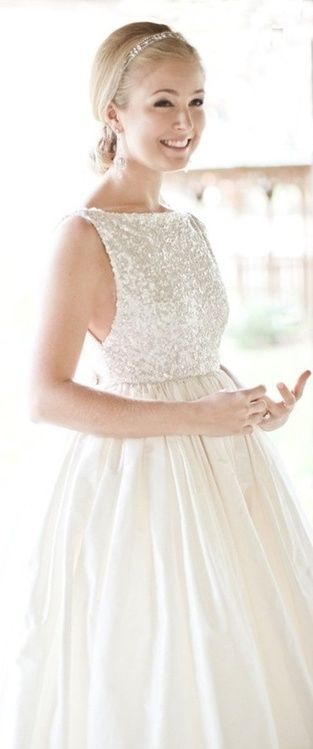 Wedding dress with sequin top wedding gowns pinterest for Wedding dress sparkly top