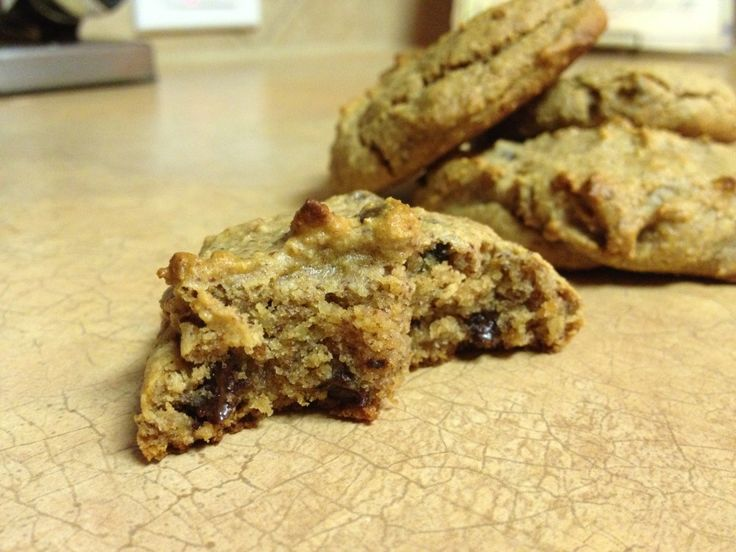 Almond Butter Chocolate Chip Cookies | Paleo | Pinterest