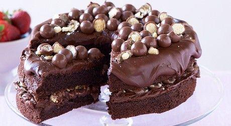 Chocolate Malt Sponge Cake   Food   Pinterest