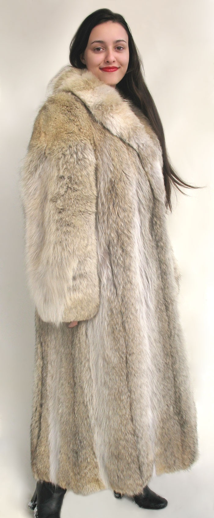 Coyote fur coat lynx pinterest