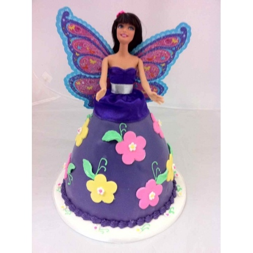 Butterfly Barbie Cake Images : Purple Butterfly Barbie Cake Kids stuff Pinterest