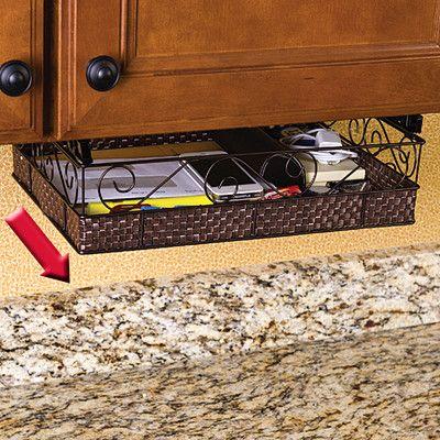 brown under cabinet mate slide out shelf. Black Bedroom Furniture Sets. Home Design Ideas