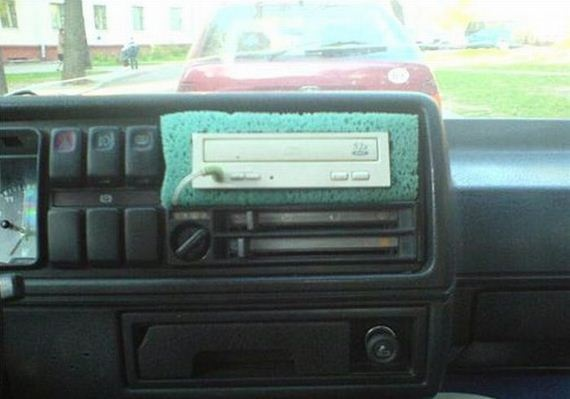 In dash cd player