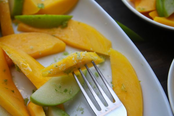 mango apple salad with sugared lime zest | RAW FOOD RECIPES | Pintere ...