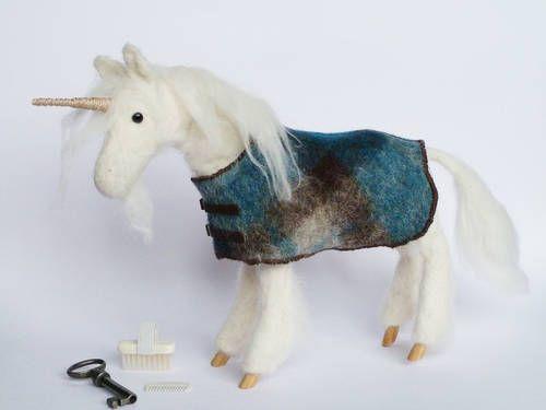 Needle felted unicorn needle felting pinterest