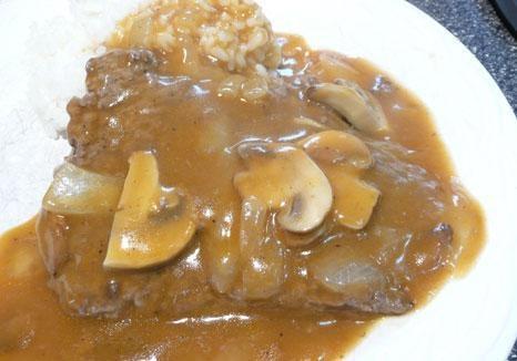 cube steaks, onion, mushrooms condensed golden mushroom soup 16 oz ...