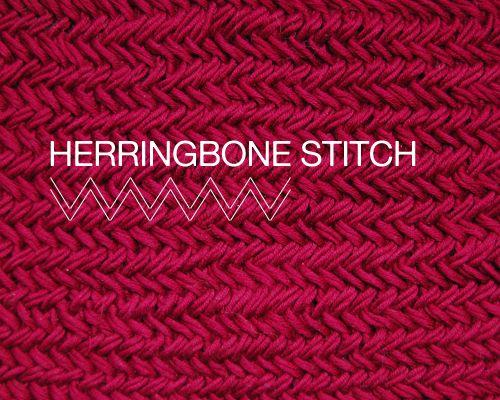 Knitting Stitches Herringbone : herringbone-stitch diy Pinterest