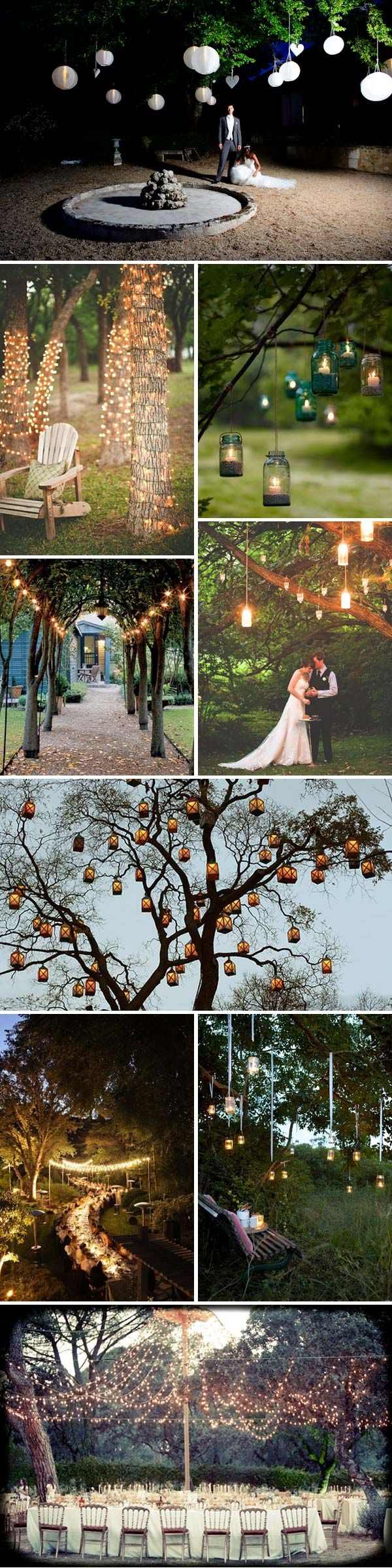 Lighting Ideas For Outdoor Wedding : the great outdoors lighting love these