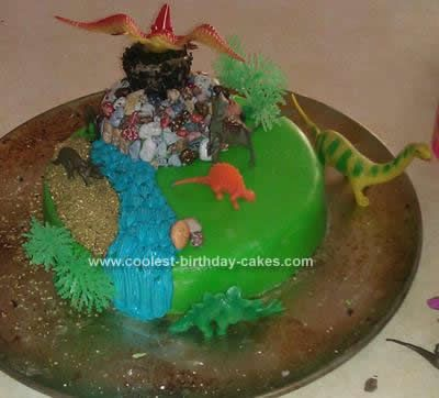 Homemade Dinosaur Cake Birthday Party Ideas Pinterest