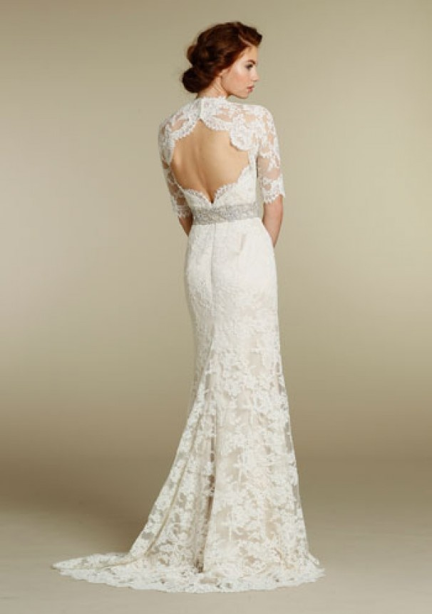 15 Racy Lace Back Wedding DressesRacy Wedding Photos