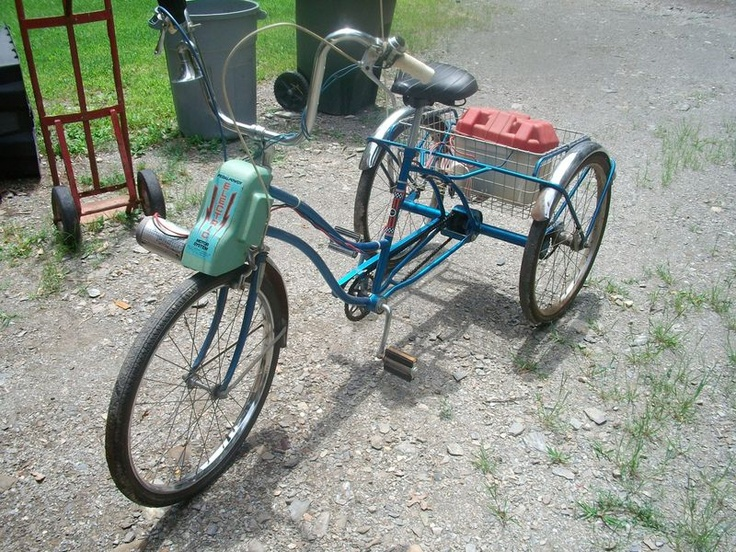 Sears 3 Wheel Bike With Electric Motor On Front Wheel
