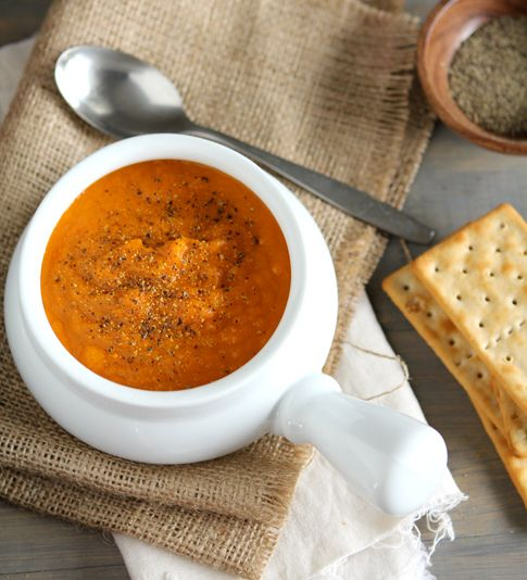Gingered carrot and apple soup.