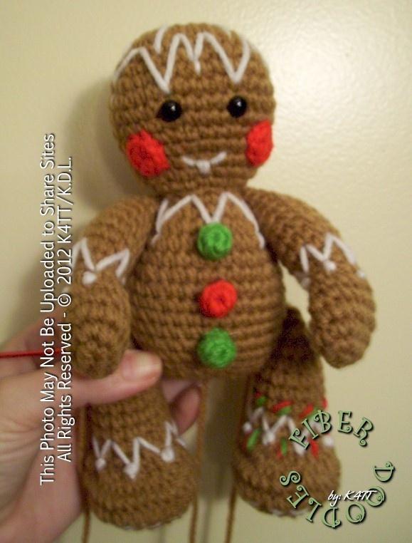 Free Crochet Pattern For Gingerbread Man Hat : free gingerbread man pattern Crochet for Christmas ...
