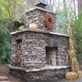 Stacked Stone Fireplace Outdoor Living Garden Spaces Pinterest